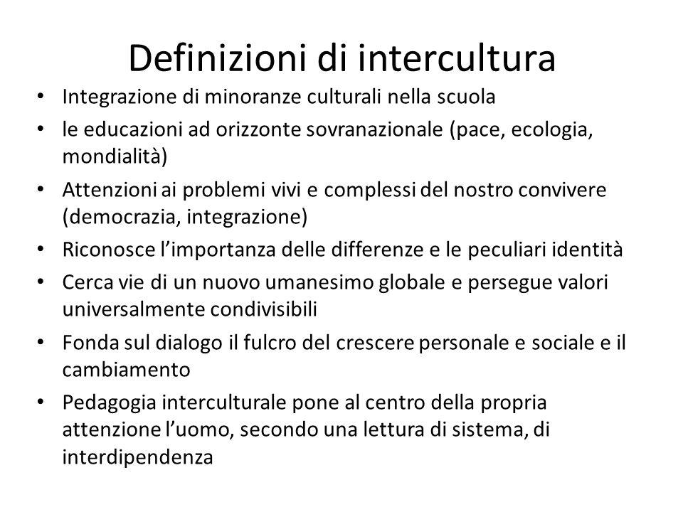 Definizioni di intercultura