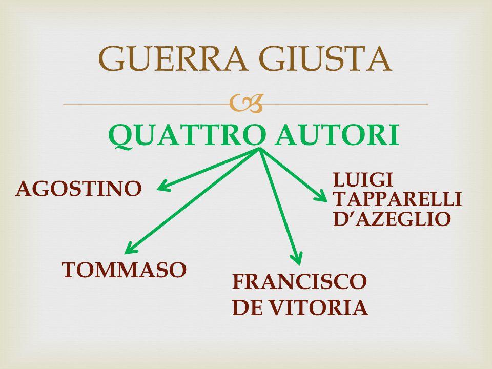 GUERRA GIUSTA QUATTRO AUTORI AGOSTINO TOMMASO FRANCISCO DE VITORIA