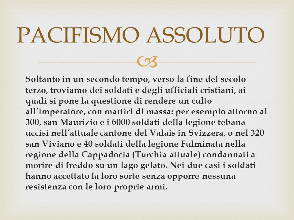 PACIFISMO ASSOLUTO
