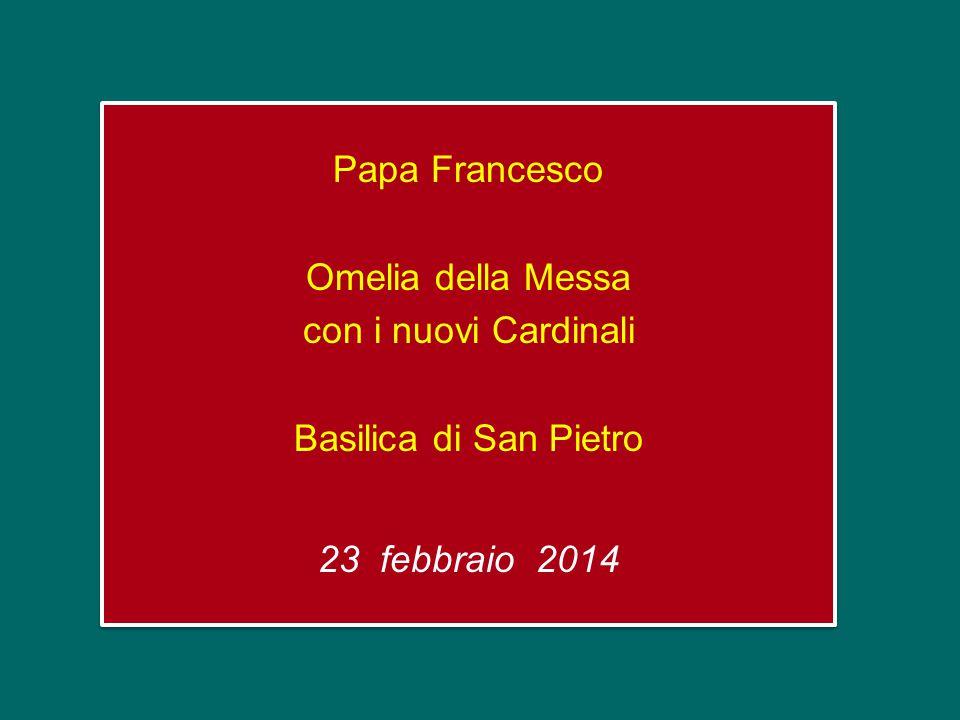Papa Francesco Omelia della Messa con i nuovi Cardinali Basilica di San Pietro 23 febbraio 2014