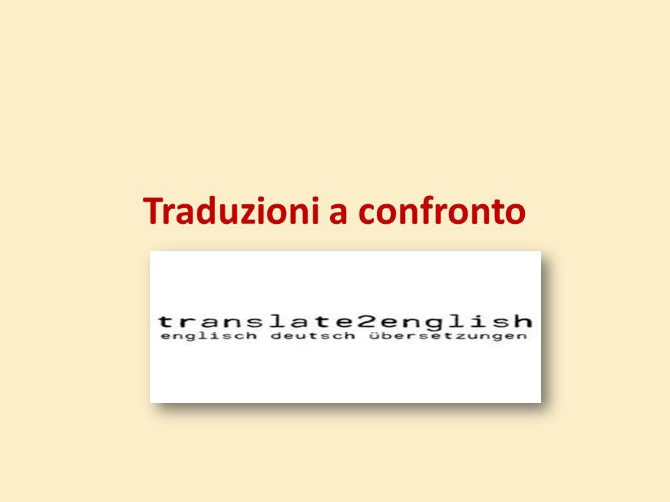 Traduzioni a confronto