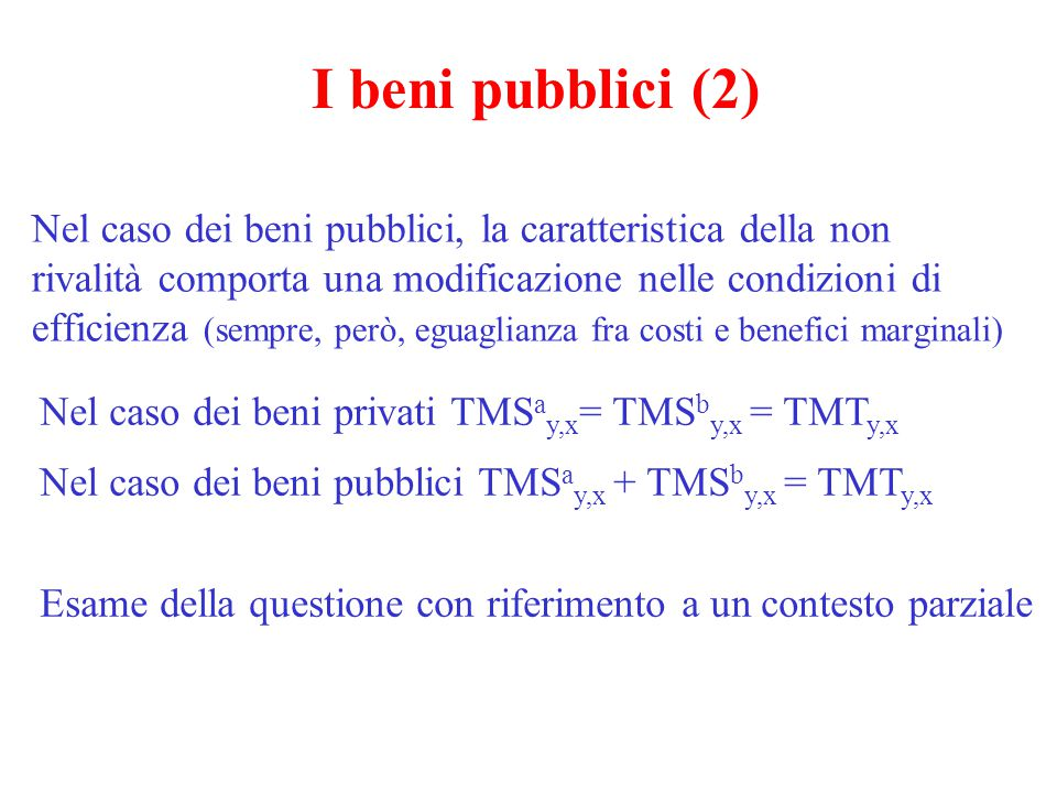 I beni pubblici (2)