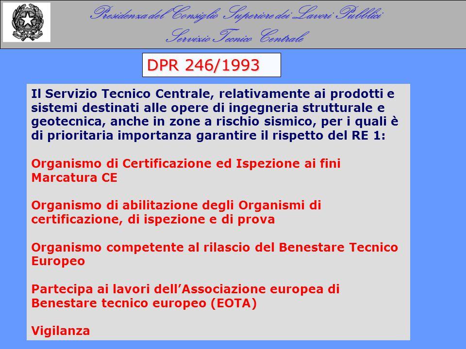 IL SERVIZIO TECNICO CENTRALE I COMPITI IN EUROPA