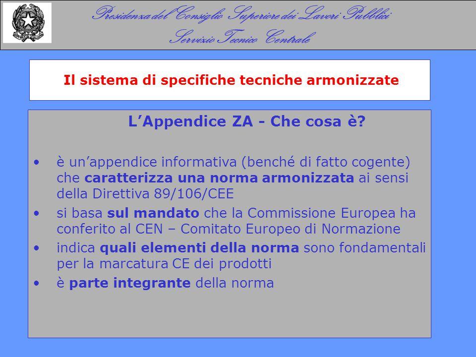 Il sistema di specifiche tecniche armonizzate