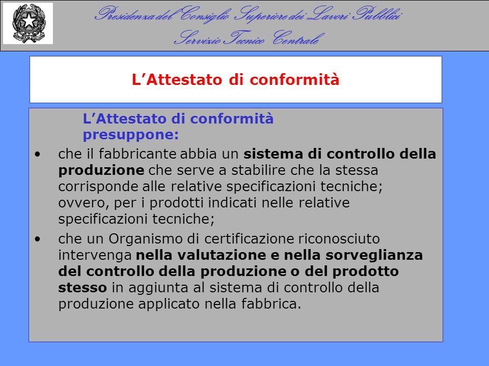 I Sistemi di Attestazione della Conformità - SAC