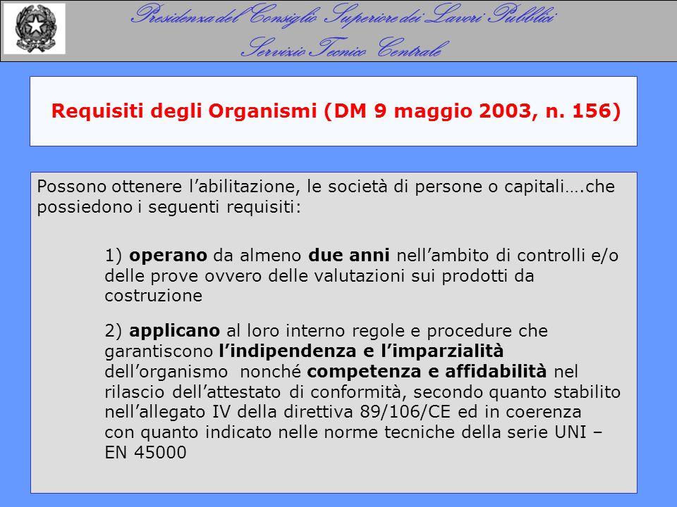 Istruttoria sull'istanza (DM 9 maggio 2003, n. 156)
