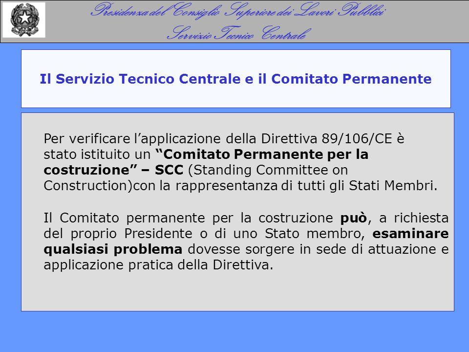 Il Servizio Tecnico Centrale e il Comitato Permanente