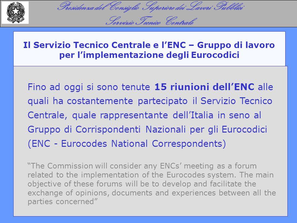 Presidenza del Consiglio Superiore dei Lavori Pubblici Servizio Tecnico Centrale