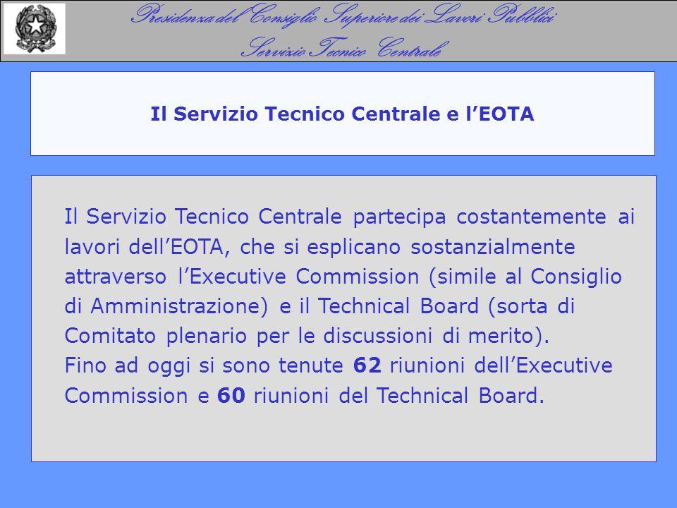 Il Servizio Tecnico Centrale e l'EOTA