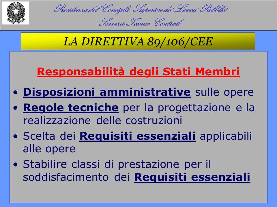 LA DIRETTIVA 89/106/CEE E IL DPR 246/93