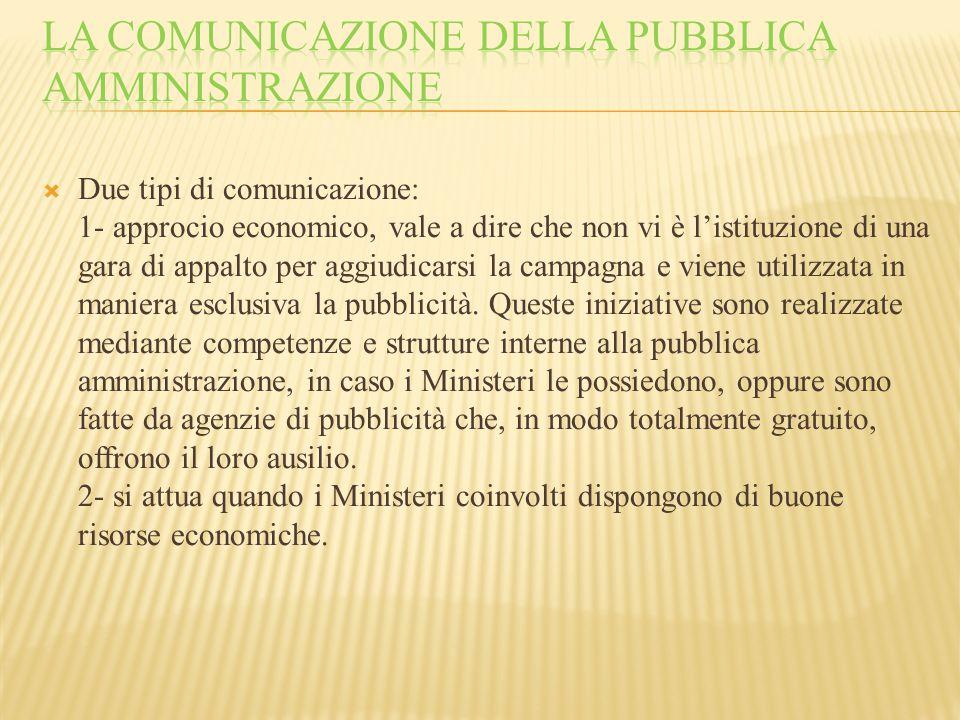 LA COMUNICAZIONE DELLA PUBBLICA AMMINISTRAZIONE