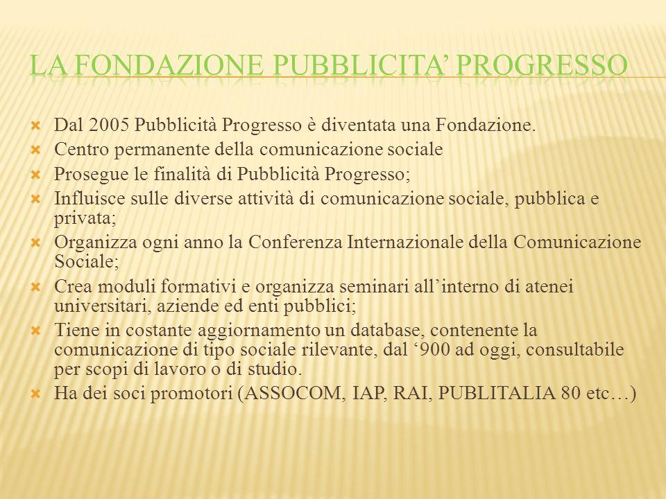 La fondazione pubblicita' progresso