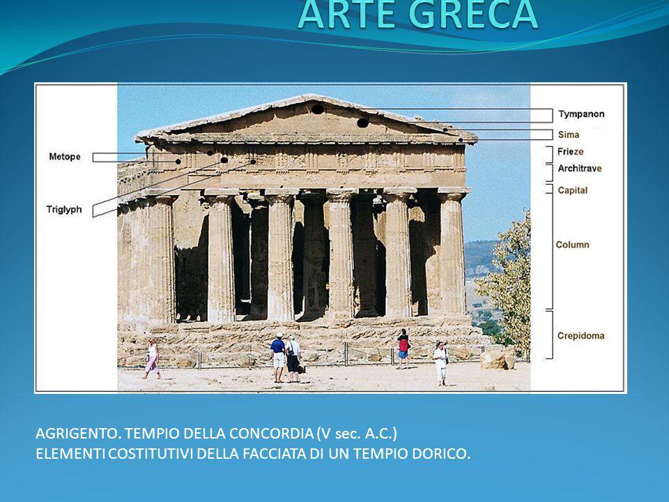 ARTE GRECA AGRIGENTO. TEMPIO DELLA CONCORDIA (V sec. A.C.)