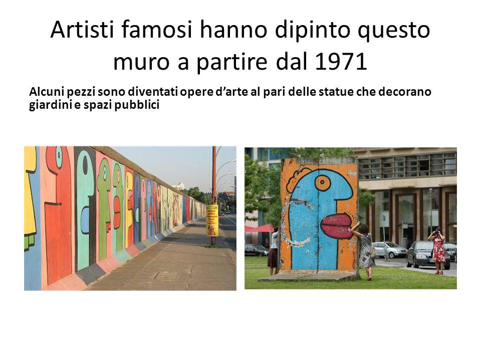 Artisti famosi hanno dipinto questo muro a partire dal 1971
