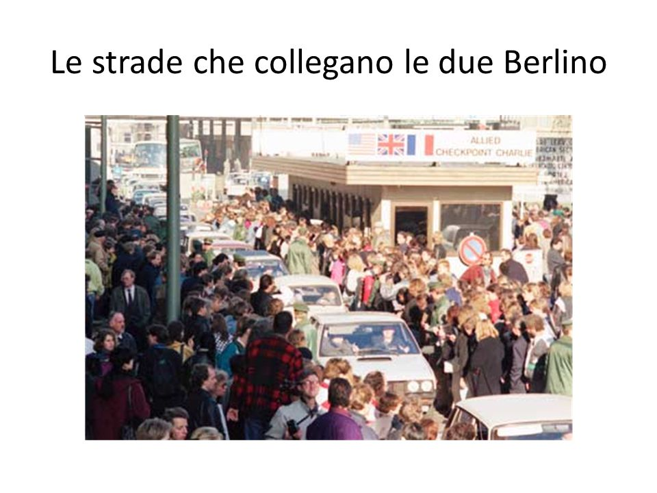 Le strade che collegano le due Berlino