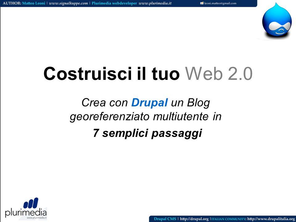 Crea con Drupal un Blog georeferenziato multiutente in