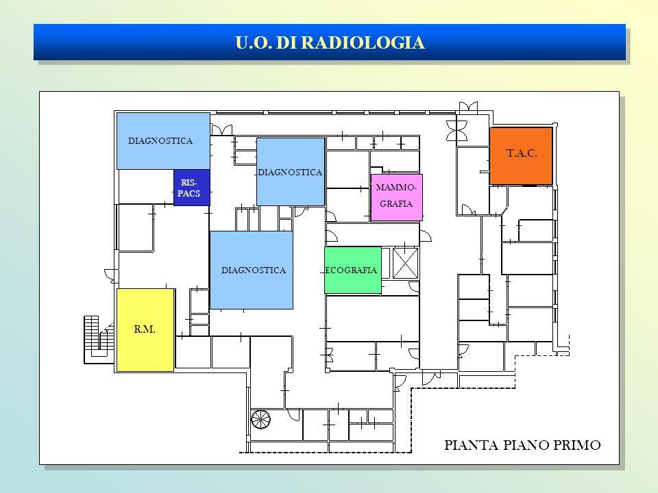 U.O. DI RADIOLOGIA PIANTA PIANO PRIMO T.A.C. R.M. DIAGNOSTICA