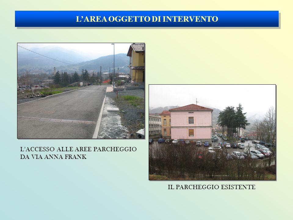 L'AREA OGGETTO DI INTERVENTO