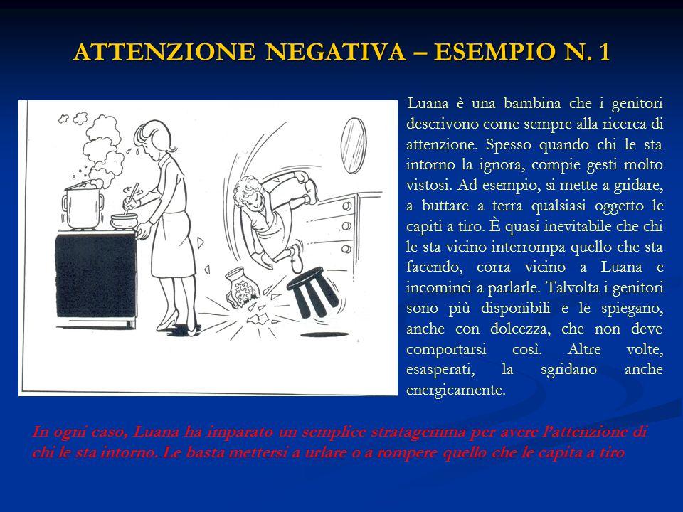 ATTENZIONE NEGATIVA – ESEMPIO N. 1