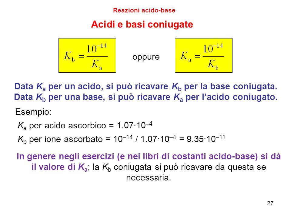 Acidi e basi coniugate oppure
