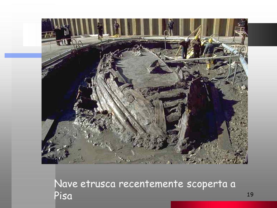 Nave etrusca recentemente scoperta a Pisa