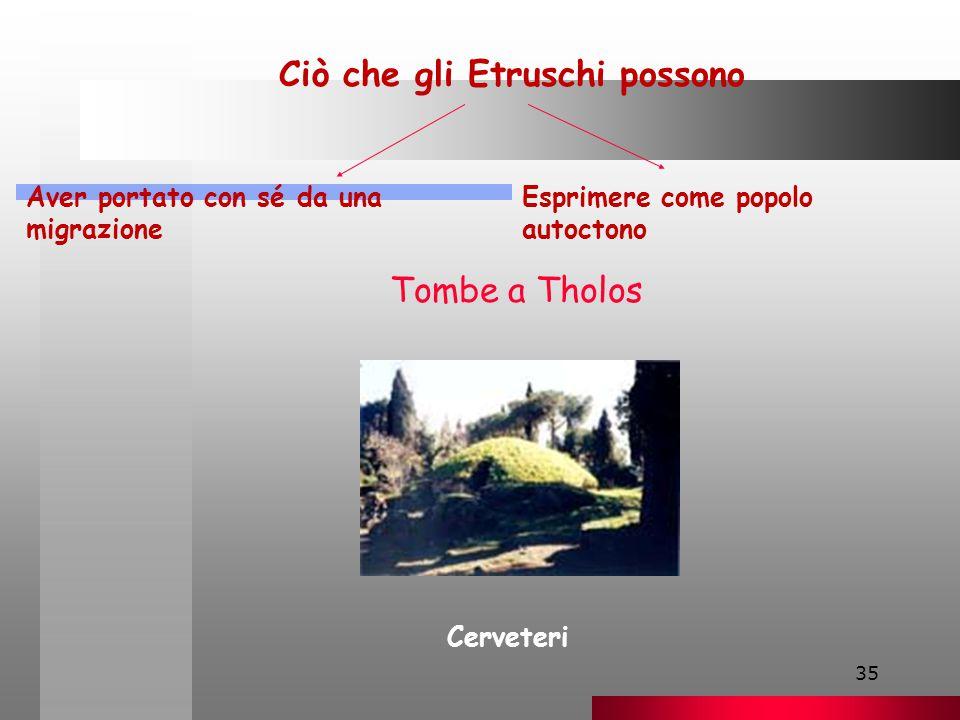 Ciò che gli Etruschi possono