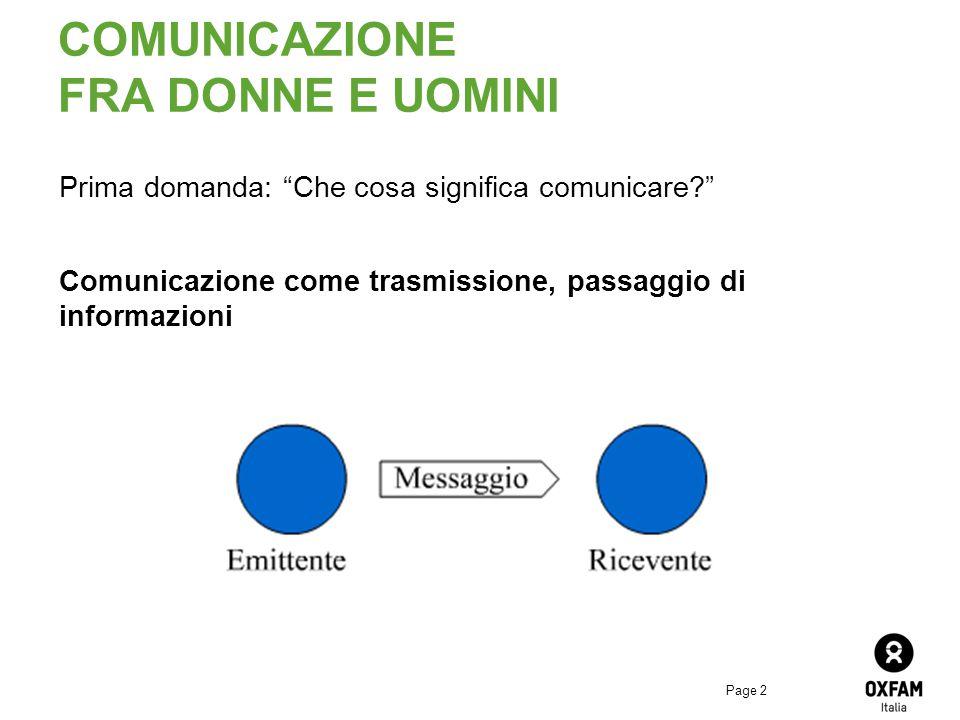 COMUNICAZIONE FRA DONNE E UOMINI