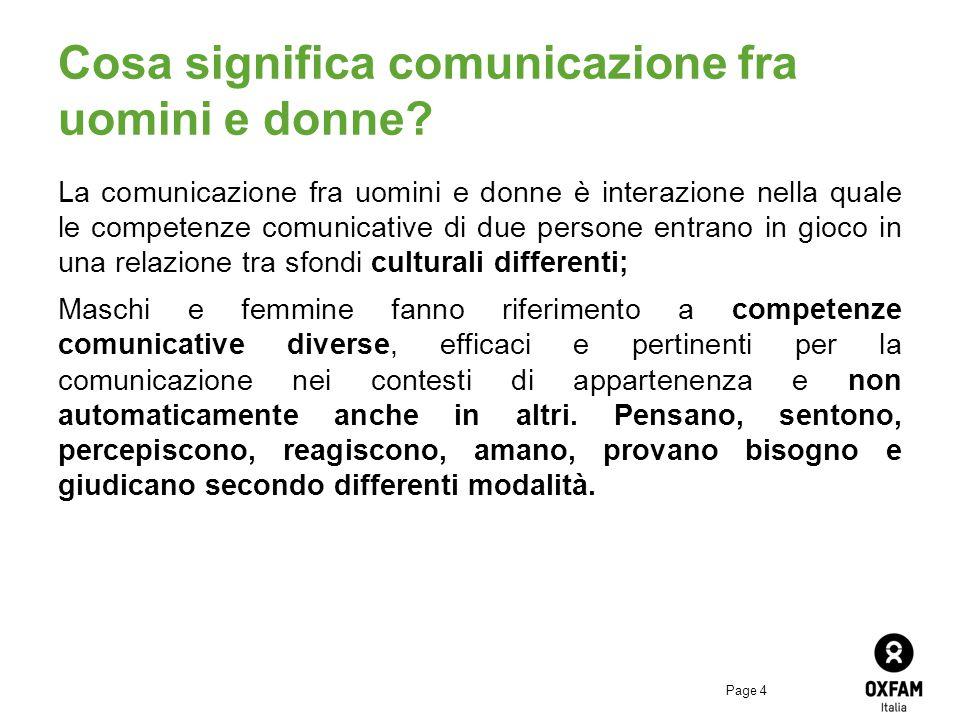 Cosa significa comunicazione fra uomini e donne