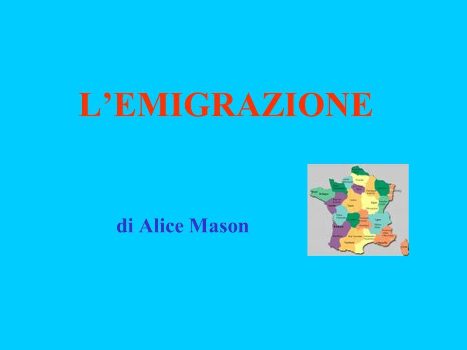L'EMIGRAZIONE di Alice Mason