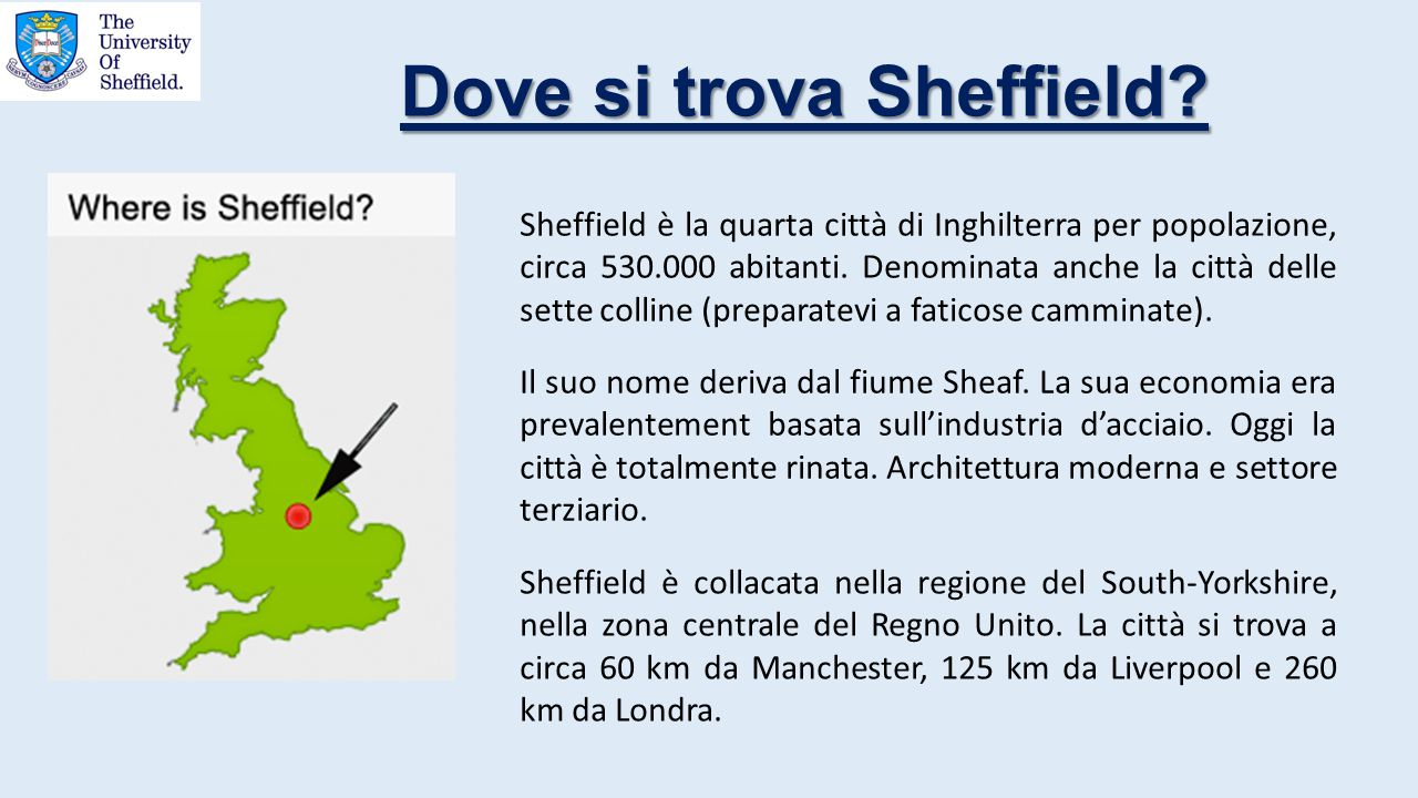 Dove si trova Sheffield