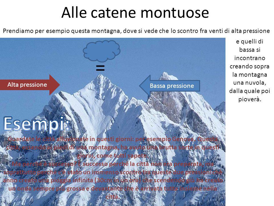 = Esempi: Alle catene montuose