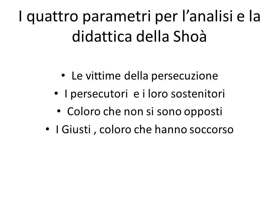 I quattro parametri per l'analisi e la didattica della Shoà