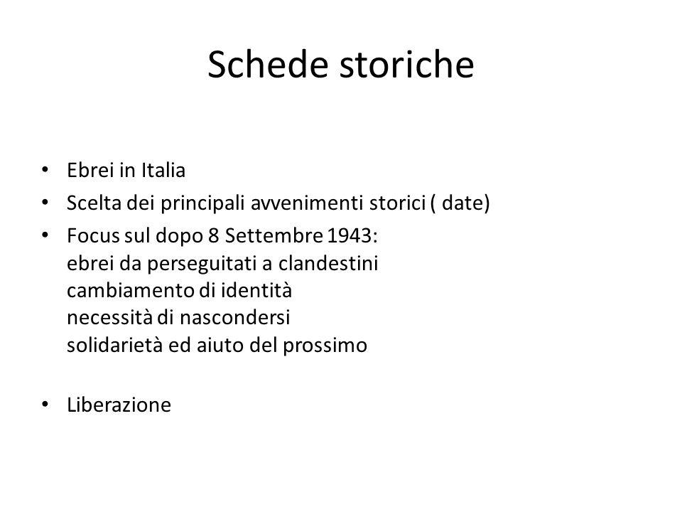 Schede storiche Ebrei in Italia