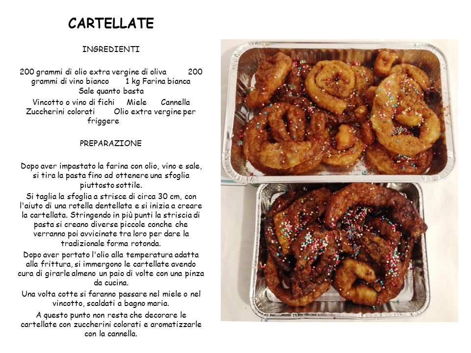 CARTELLATE INGREDIENTI