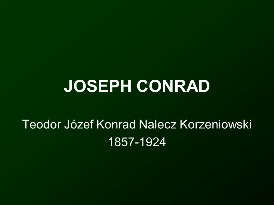 Teodor Józef Konrad Nalecz Korzeniowski 1857-1924