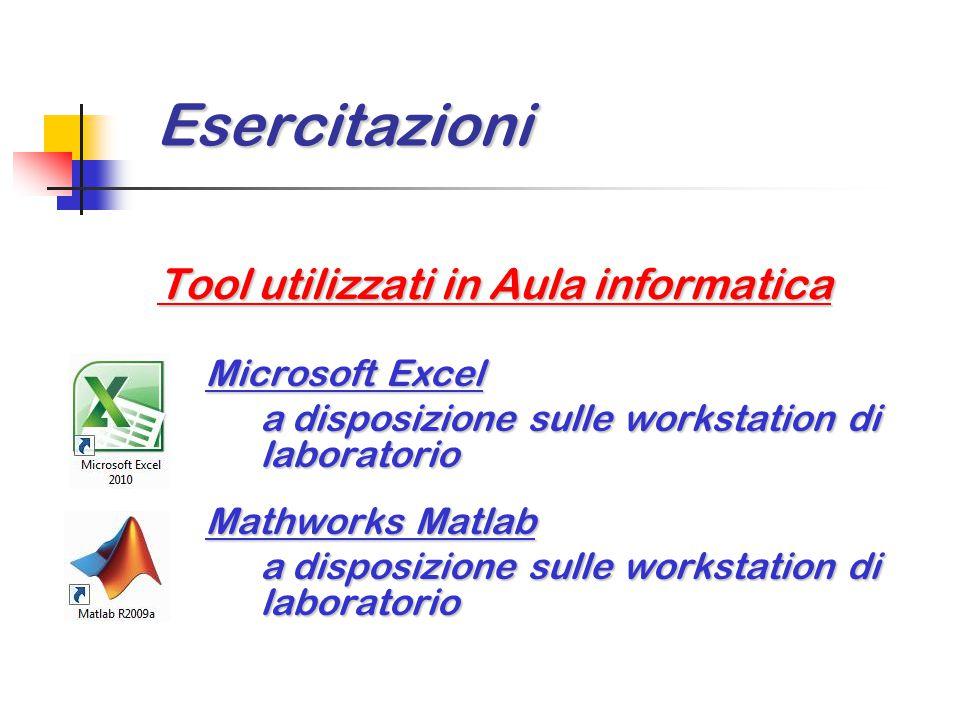 Esercitazioni Tool utilizzati in Aula informatica Microsoft Excel