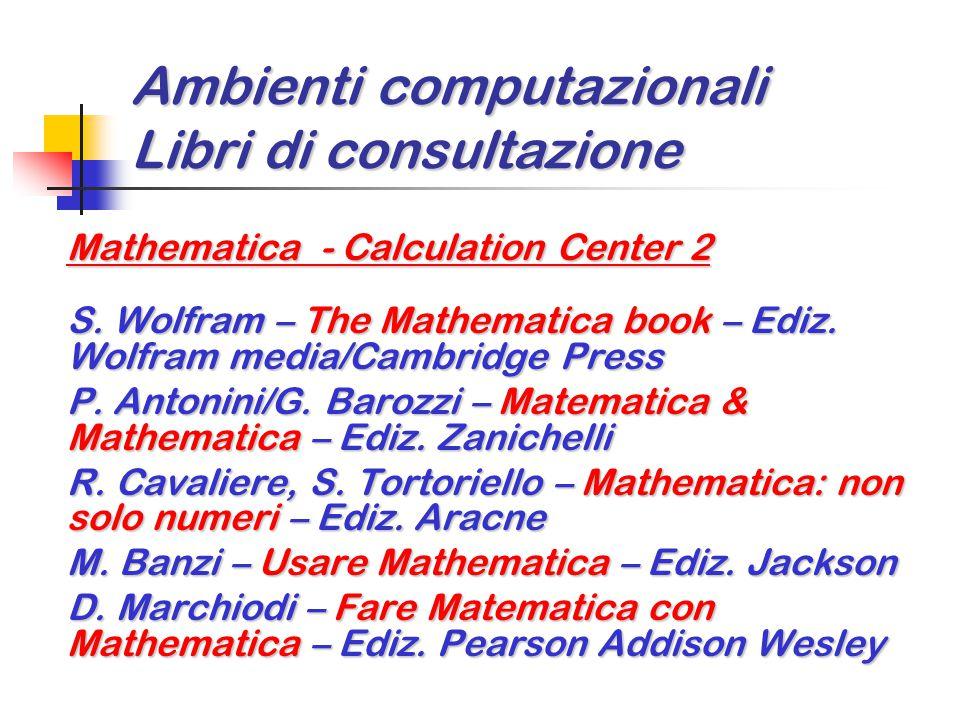 Ambienti computazionali Libri di consultazione