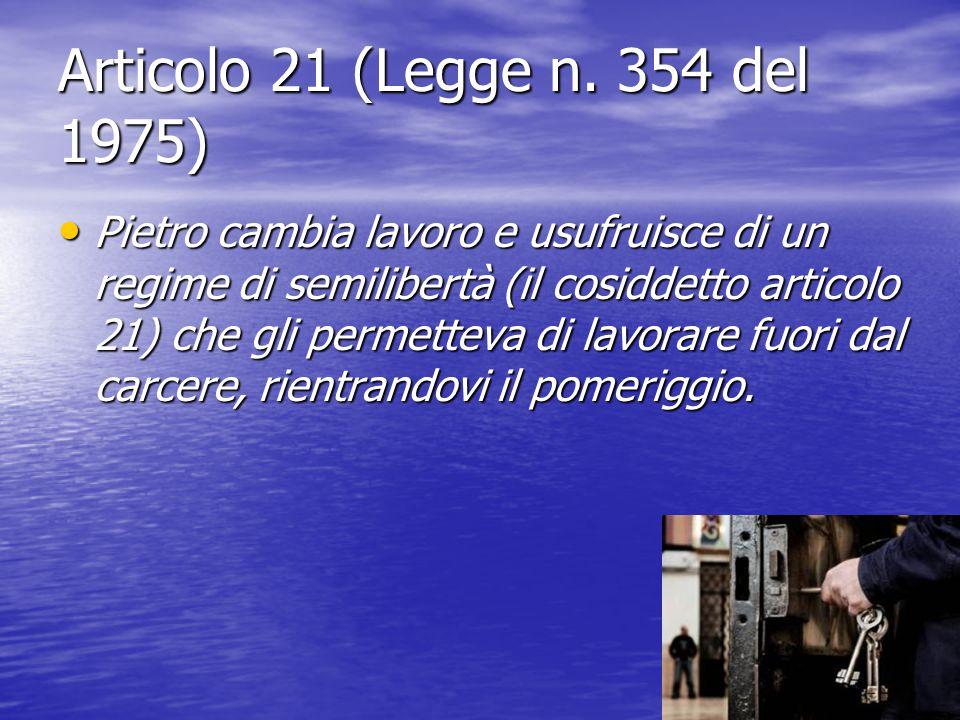Articolo 21 (Legge n. 354 del 1975)