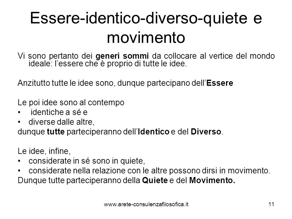 Essere-identico-diverso-quiete e movimento
