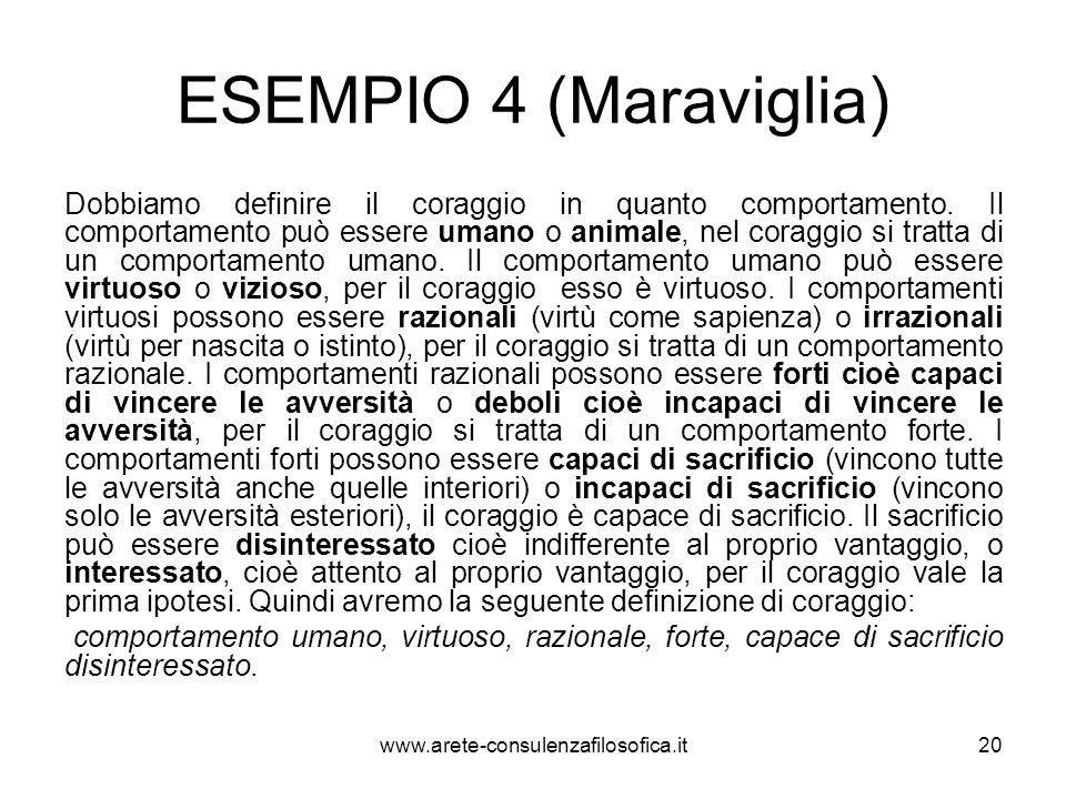 ESEMPIO 4 (Maraviglia)
