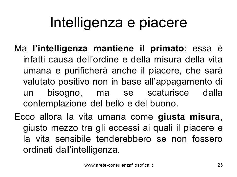 Intelligenza e piacere