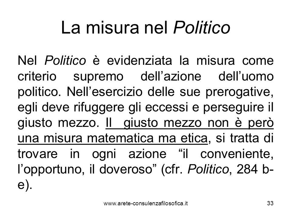 La misura nel Politico
