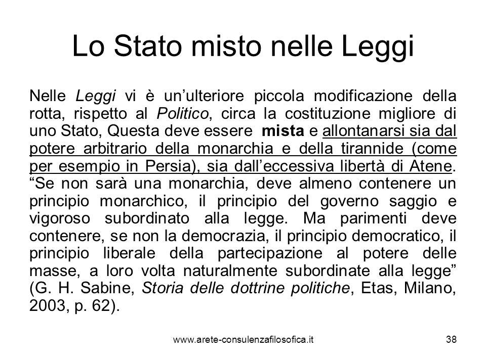 Lo Stato misto nelle Leggi