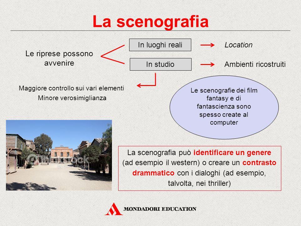 La scenografia Le riprese possono avvenire In luoghi reali Location