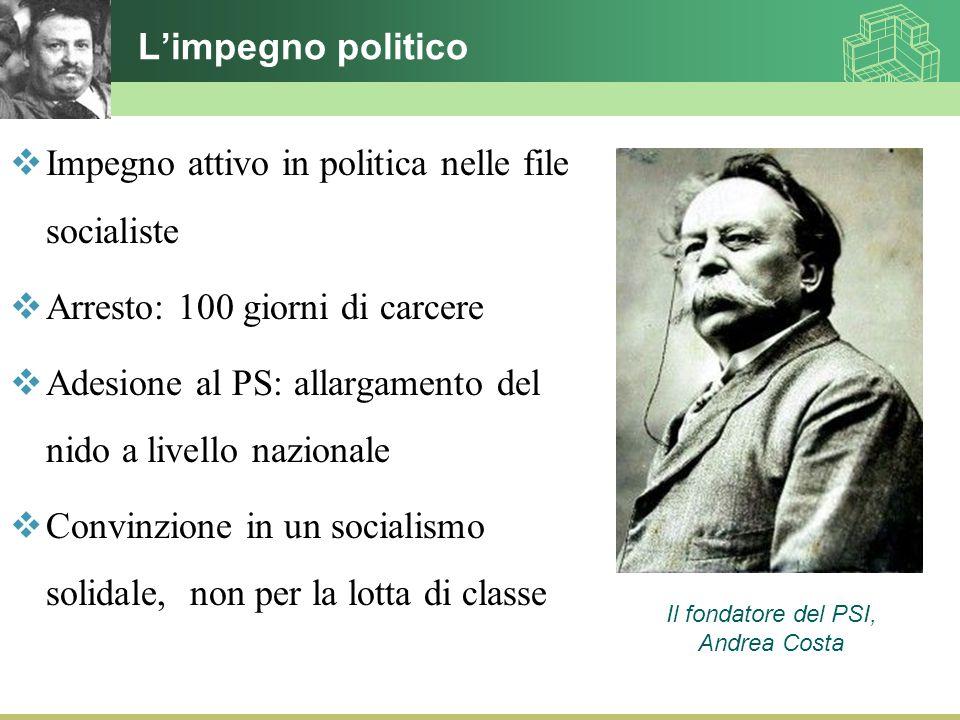 Impegno attivo in politica nelle file socialiste