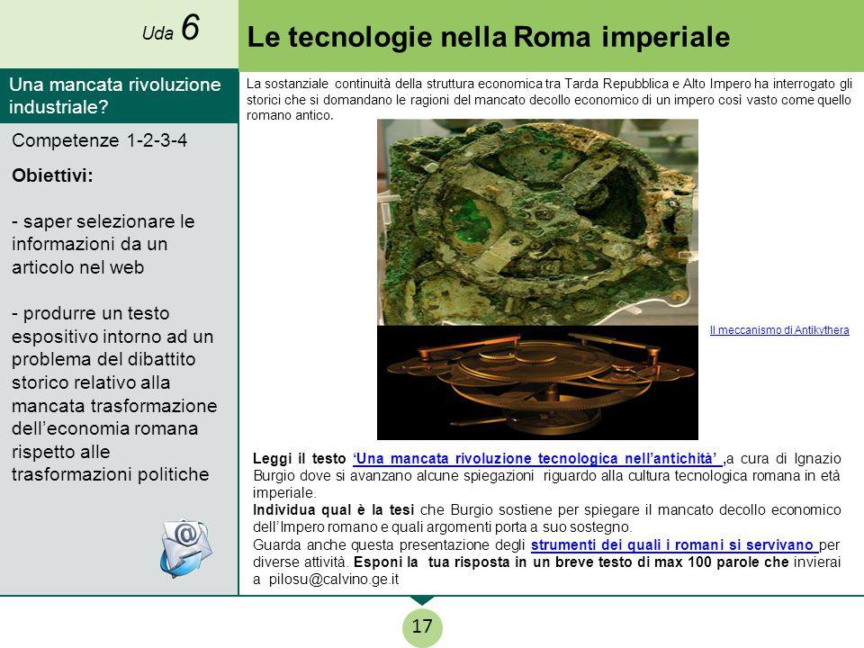 Le tecnologie nella Roma imperiale