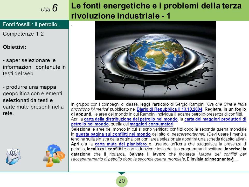 Uda 6 Le fonti energetiche e i problemi della terza rivoluzione industriale - 1. Fonti fossili : il petrolio.