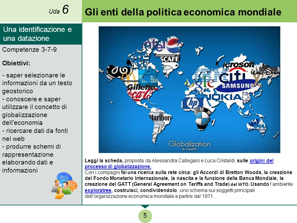 Gli enti della politica economica mondiale