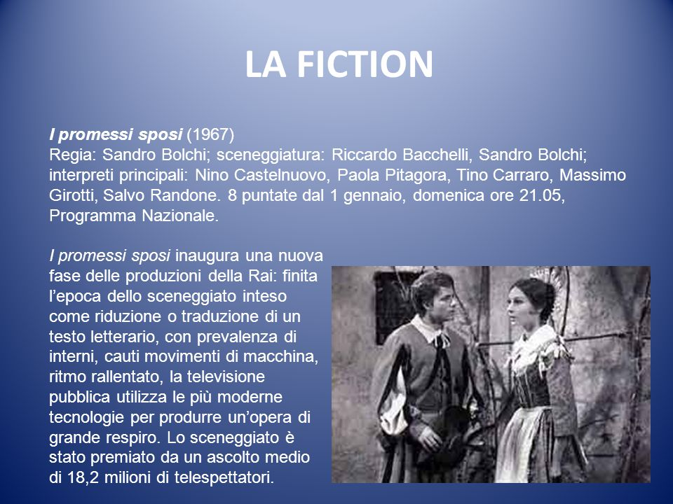 LA FICTION I promessi sposi (1967)