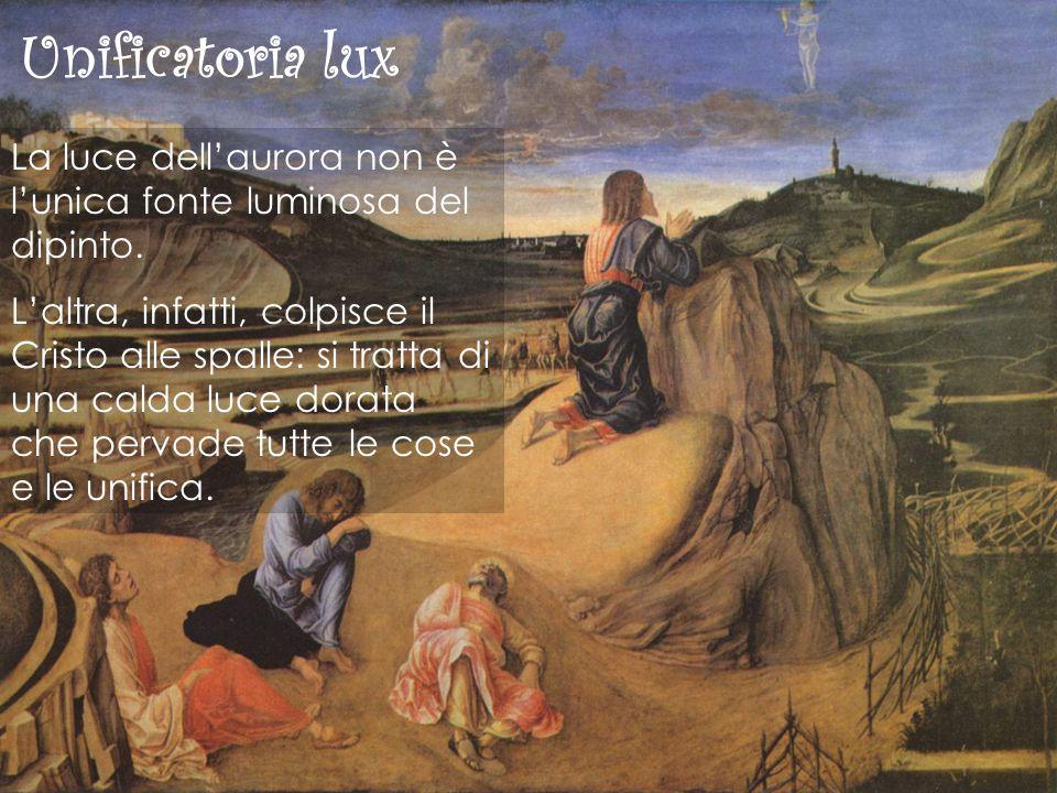 Unificatoria lux La luce dell'aurora non è l'unica fonte luminosa del dipinto.